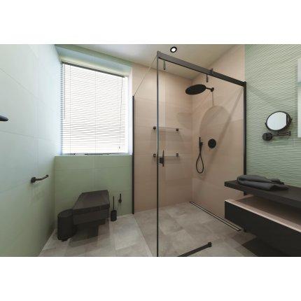 Suport cu perie vas toaleta Bemeta Dark cu montaj pe perete