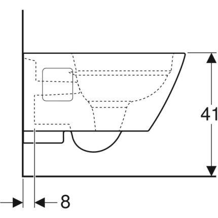 Vas WC suspendat Geberit Selnova Square Rimfree 35x54cm, alb