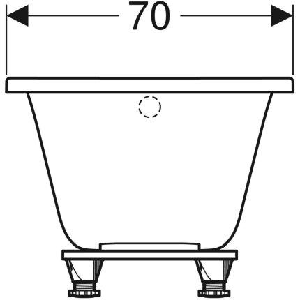 Cada baie rectangulara Geberit Selnova 140x70cm cu picioare incluse, acril