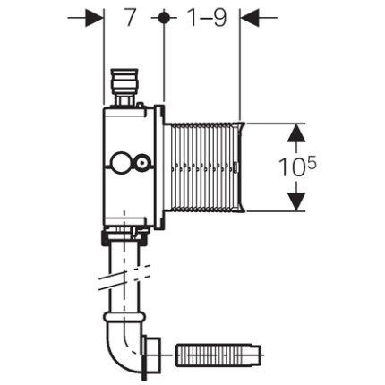 Unitate de instalare incastrata Geberit pentru urinal Preda si Selva