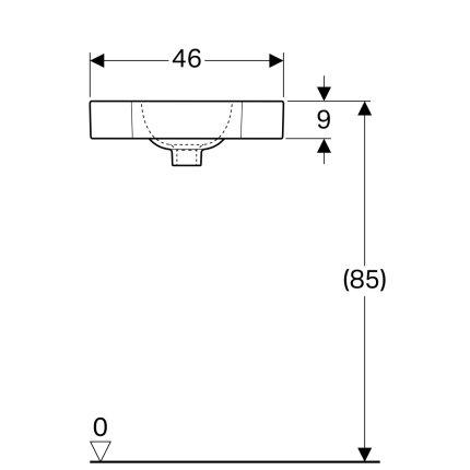 Lavoar de colt Geberit iCon 46x33cm, fara preaplin, alb