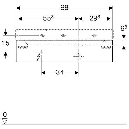 Dulap baza Geberit Xeno2 88x46.2cm decupaj sifon dreapta, cu un sertar, greige mat