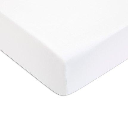 Cearceaf de pat cu elastic Descamps Sublime, Alb