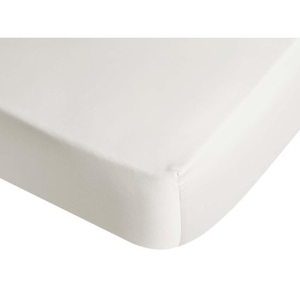 Cearceaf de pat cu elastic Descamps Unis Satin 90x200cm, Crem