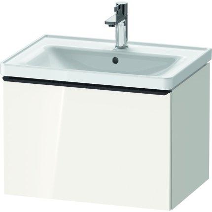 Dulap baza Duravit D-Neo cu 1 sertar, pentru lavoar 65cm, White High Gloss Decor
