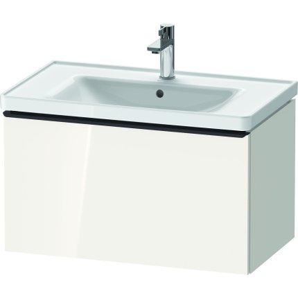 Dulap baza Duravit D-Neo cu 1 sertar, pentru lavoar 80cm, White High Gloss Decor