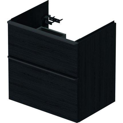 Dulap baza Duravit D-Neo cu 2 sertare, pentru lavoar 65cm, Black Oak