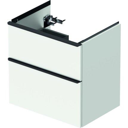 Dulap baza Duravit D-Neo cu 2 sertare, pentru lavoar 65cm, White Matt Decor