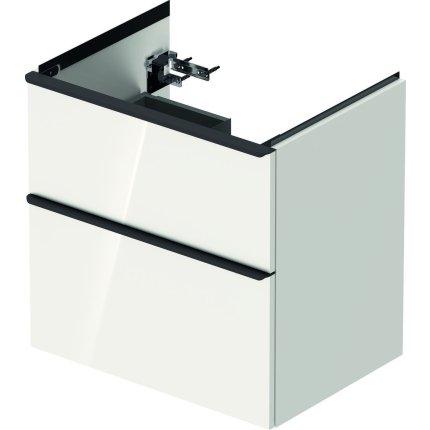Dulap baza Duravit D-Neo cu 2 sertare, pentru lavoar 65cm, White High Gloss Decor