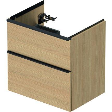 Dulap baza Duravit D-Neo cu 2 sertare, pentru lavoar 65cm, Natural Oak