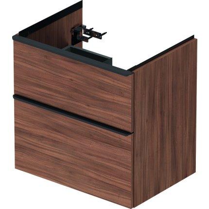 Dulap baza Duravit D-Neo cu 2 sertare, pentru lavoar 65cm, Natural Walnut Decor