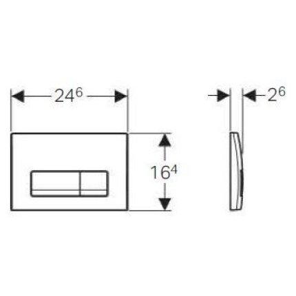 Set rezervor incastrat Geberit Delta cu cadru metalic, sistem de prindere si clapeta crom