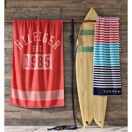 Prosop de plaja Tommy Hilfiger Sunshade 90x180cm, Multicolor