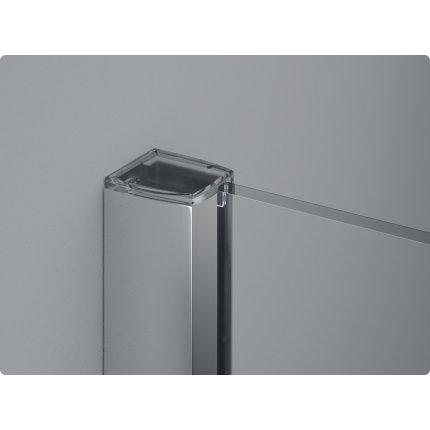 Cabina de dus semirotunda Sanswiss Pur Aquaperle 90x90cm, sticla securizata transparenta 8mm, profil crom