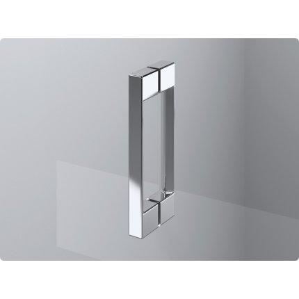 Usa de dus pivotanta cu parte fixa Sanswiss Pur Aquaperle 90cm stanga, sticla securizata transparenta 8mm , profil crom