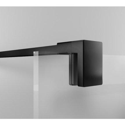 Cabina de dus Walk-In SanSwiss Easy STR4P 80 cm, sticla securizata Loft 76, 8 mm, profil negru mat