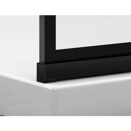 Cabina de dus Walk-In SanSwiss Easy STR4P 120 cm, sticla securizata Loft 76, 8 mm, profil negru mat