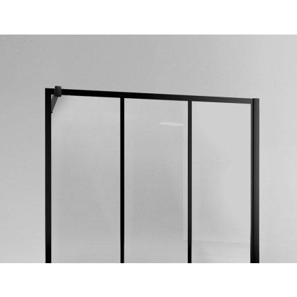 Cabina de dus Walk-In SanSwiss Easy STR4P 140 cm, sticla securizata Loft 75, 8 mm, profil negru mat