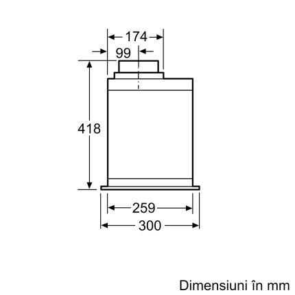 Hota incorporabila Bosch DHL585B Serie 6, 52cm, instalare in dulap, 3 trepte + Intensive, 650 m³/h Intensive, argintiu metalizat