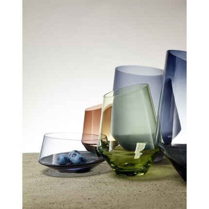 Vaza Zwiesel Glas Diamonds Blue, handmade, 277mm