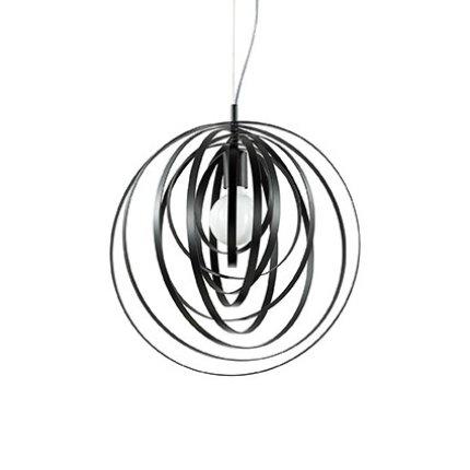 Suspensie Ideal Lux Disco SP1, 1x60W, d46cm, h65-118cm, negru