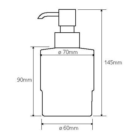 Dispenser sapun lichid Bemeta Omega 200 ml, sticla