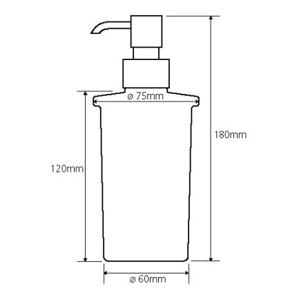 Dispenser sapun lichid Bemeta Omega 250 ml, sticla