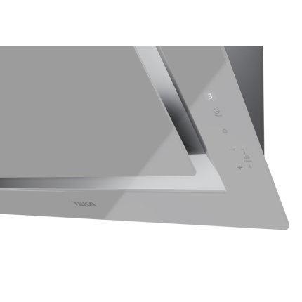 Hota Teka DLV 68660 SM 60cm design vertical, 3 trepte + turbo, max 614m3/h, Steam Grey