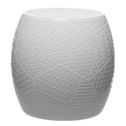 Taburet Kartell Roy design Alessandro Mendini, h43cm, d45cm, alb