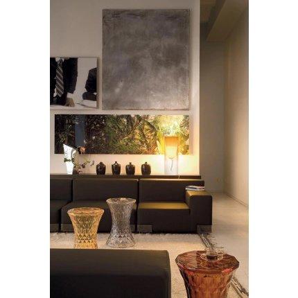 Veioza Kartell Toobe design Ferruccio Laviani, h55cm, d20cm, albastru