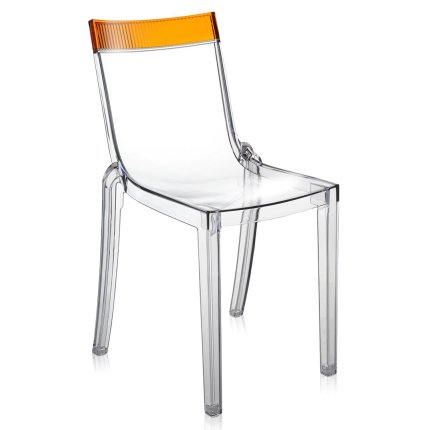 Scaun Kartell HI-CUT design Philippe Stark & Eugeni Quittlet, transparent-orange