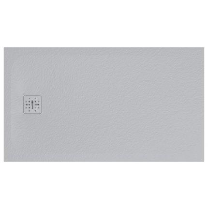 Cadita de dus dreptunghiulara Globo Docciapietra 80x140x3cm, sifon inclus