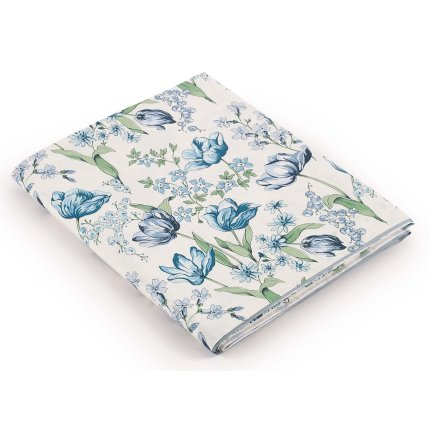 Cearceaf superior Jardin Secret Heloise 180x290cm Bleu