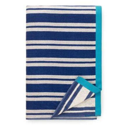 Prosop de plaja Descamps Plaisance 100x180cm Bleu