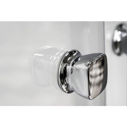 Usa de nisa culisanta Besco Duo Slide 130cm, sticla transparenta securizata 6 mm