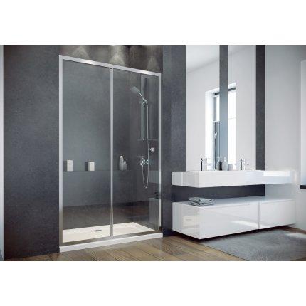 Usa de nisa culisanta Besco Duo Slide 110cm, sticla transparenta securizata 6 mm