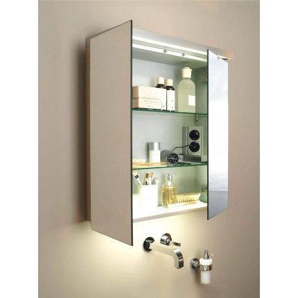 Dulap cu oglinda Duravit Fogo 60x74cm, pin argintiu
