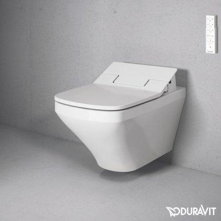 Set vas WC suspendat Duravit DuraStyle si capac slim SensoWash cu functie de bideu
