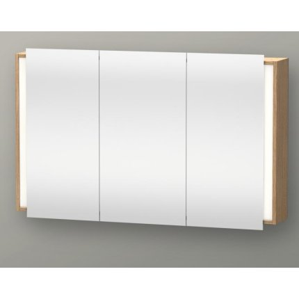 Dulap cu oglinda si iluminare Duravit Ketho 120x75cm, stejar european