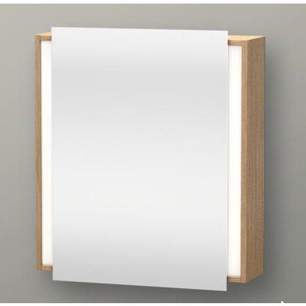 Dulap cu oglinda si iluminare Duravit Ketho 65x75cm, deschidere dreapta, stejar european