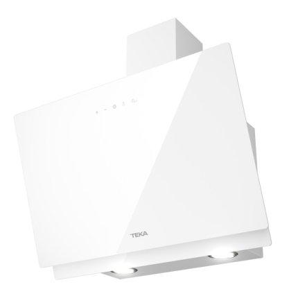 Hota Teka Easy DVN 64060 design vertical, 2 trepte + Turbo, 460 m3/h, 60cm, timer, Sticla alba