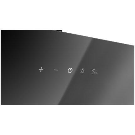 Hota semineu Teka DVN 94030 BK, 90 cm, design vertical, 460 m3/h Free Outlet, Cristal negru