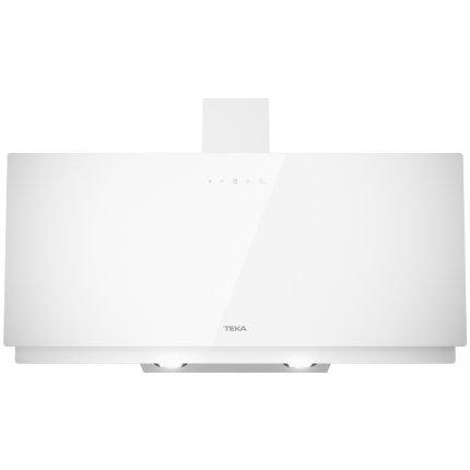 Hota semineu Teka DVN 94030 WH, 90 cm, design vertical, 460 m3/h Free Outlet, Cristal alb
