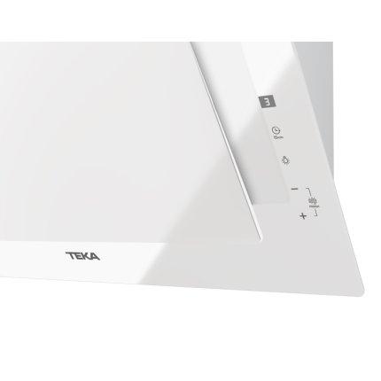 Hota Teka DVT 68660 TBS 3 trepte + Turbo, 698 m3/h, FreshAir, turbina dubla, 60 cm, timer, paravan sticla, White