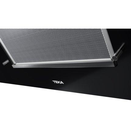 Hota Teka DVT 98660 TBS 3 trepte + Turbo, 698 m3/h, FreshAir, turbina dubla, 90 cm, timer, paravan sticla, Black