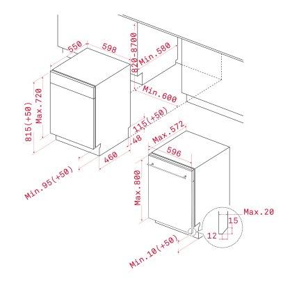 Masina de spalat vase incorporabila Teka DW9 70 FI Aqualogic, 14 seturi, Clasa A+++