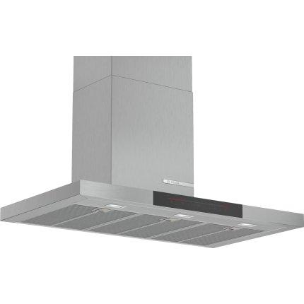 Hota decorativa Bosch DWB98JQ50 Serie 6, 90cm, design box, 3 trepte + Intensiv, 843 m³/h Intensiv, inox