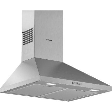 Hota decorativa Bosch DWP66BC50 Serie 2, 60cm, design piramidal, 3 trepte, 597 m³/h, inox