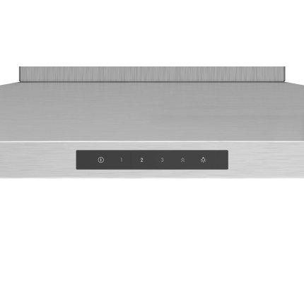 Hota decorativa Bosch DWQ66DM50 Serie 4, 60cm, design slim pyramid, 3 trepte + Intensiv, 644 m³/h Intensiv, inox