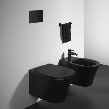 Vas WC suspendat Ideal Standard Connect Air AquaBlade, negru mat